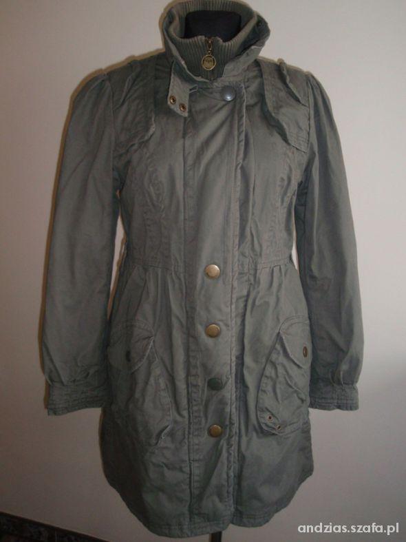 Płaszcz kurtka khaki fason bombka...