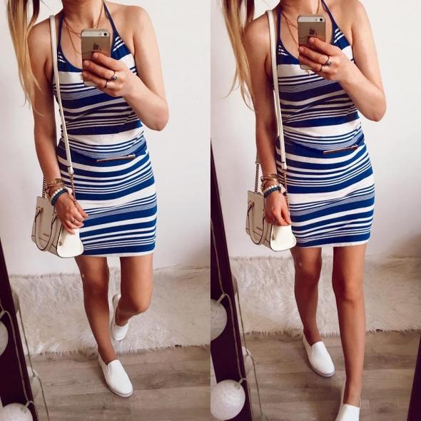 Sukienka Damska w paski H&M rozmiar M