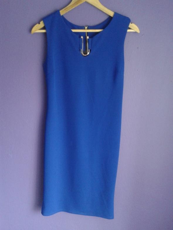 Chabrowa elegancka sukienka S M