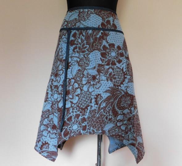 Spódnice Next spódnica midi brąz niebieski 44