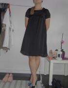 Tunika sukienka Camaieu czarna piękna oversize siw...