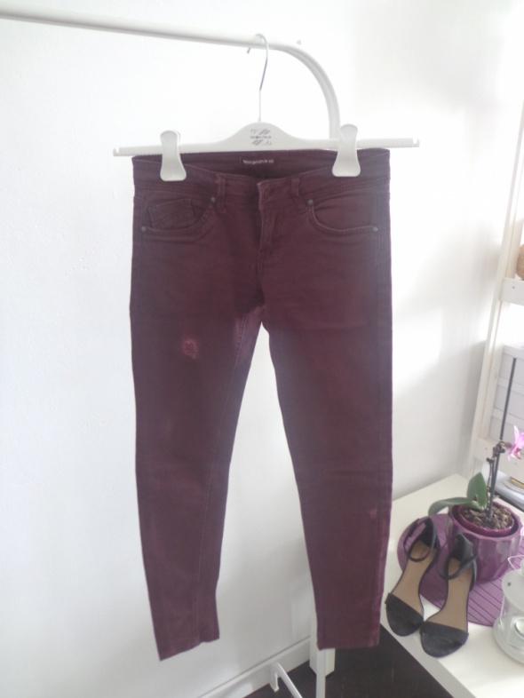 Bordowe Spodnie XS Terranova...