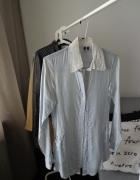 koszula z kieszeniami bershka S niebieska...