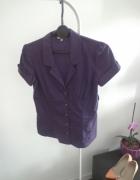 Koszula fioletowa fiolet rozpinana stradivarius