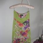 tunika sukienka Echo bombka zielona kwiaty kwiatki flower