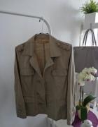 kurtka marynarka płaszcz khaki ćwieki