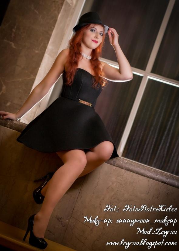 Suknie i sukienki Piankowa czarna rozkloszowana wieczorowa S 36