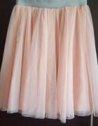 Sukienka tiulowa rozkloszowana brudny róż biała 36 wesele impre...