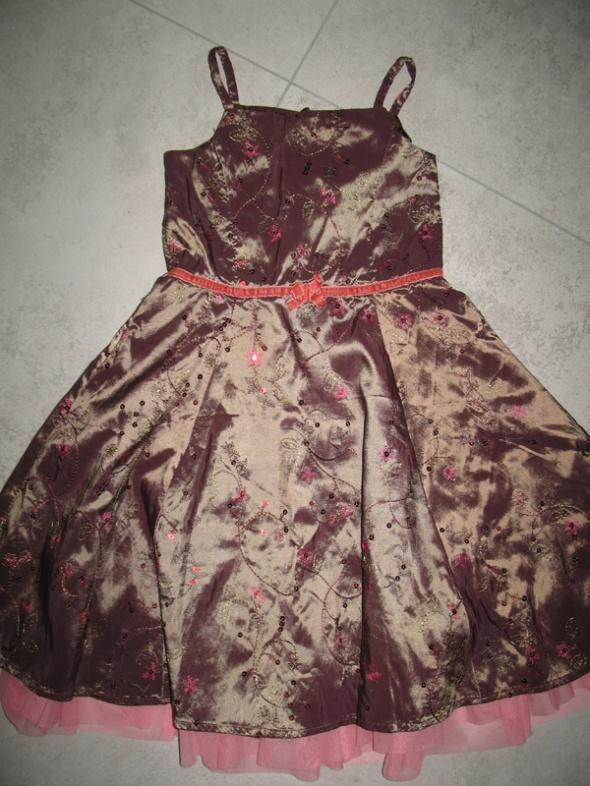 MUST HAVE śliczna sukienka w kwiaty z kokardką roz 98