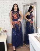 Piękna sukienka tiulowa z hafem S M L...