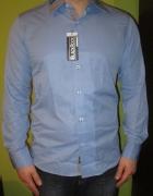 Błękitna koszula XL...