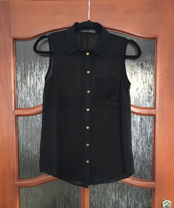 0ad7524d Bluzka koszula mgiełka czarna 34 XS Atmosphere HM Primark w Koszule ...