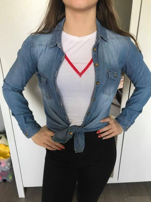 Jeansowa koszula Sinsay