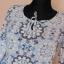 Dorothy Perkins bluzka biała niebieska 38 40