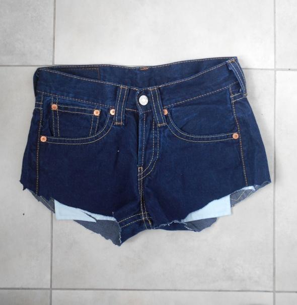 Levis jeansowe spodenki szorty jeans vintage ciemn...
