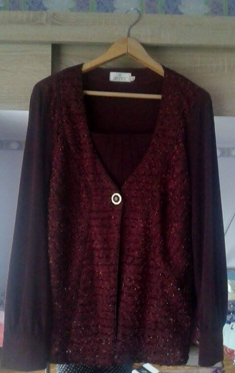 bordowa bluzka 2w1