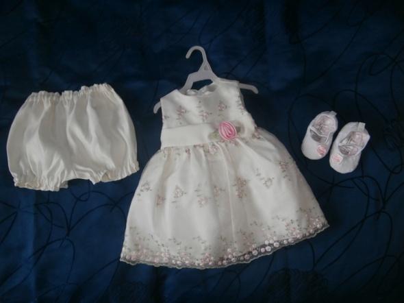 sukienka dla małej księżniczki roz ok 74