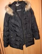 Wrangler puch naturalny płaszcz kurtka L futerko...