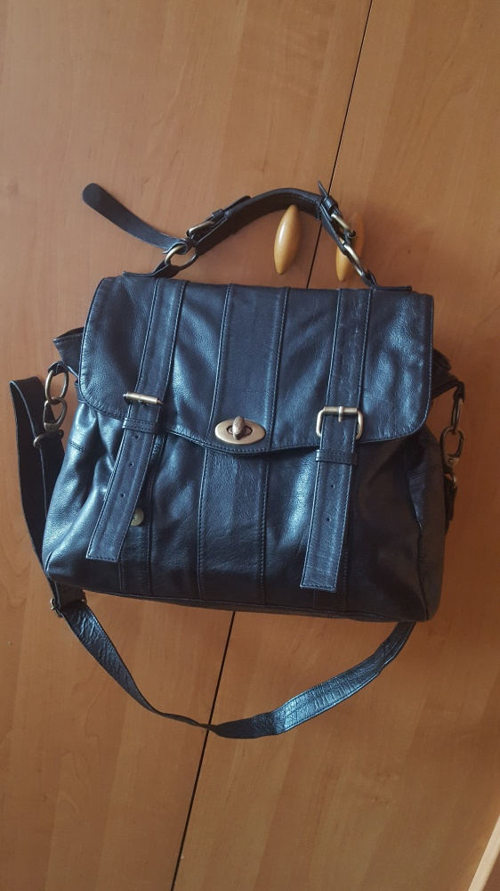 Wera Sweden Bag szwedzka torba skóra naturalna piekna duża A4