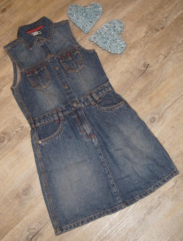 Sukienka dziewczynka jeans rozm 140