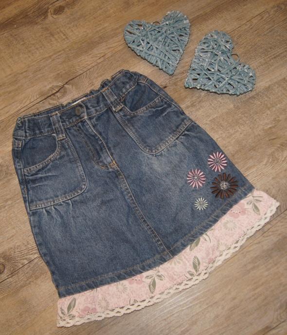 Spodniczka dziewczynka jeans hafty rozm 128