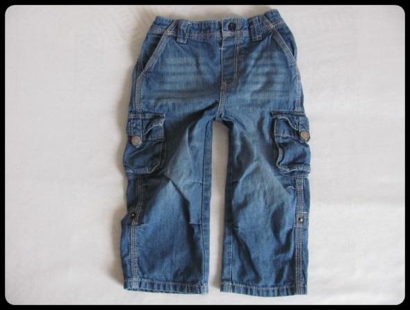 Spodnie jeansowe 15 do 2 lat rozmiar 92 podwijane nogawki...