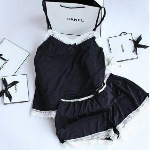 Nowa śliczna dwuczęściowa damska piżamka koronka