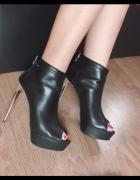 96294c03 Buty skórzane Wojas rozmiar 38 wysoka szpilka buty na platformi.