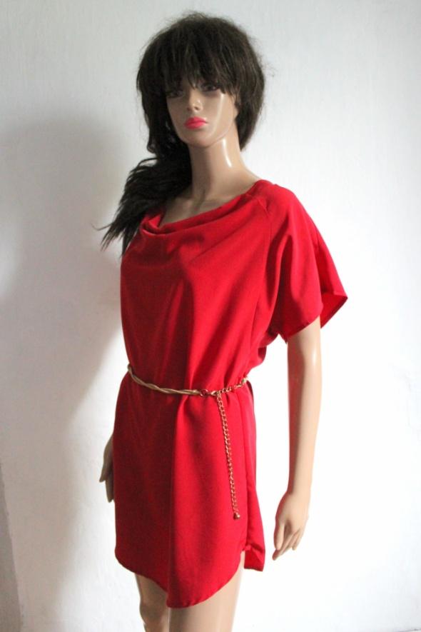 Czerwona koktajlowa sukienka r S...