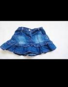 Spódniczka jeansowa 68 falbany...