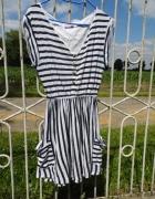 Marynarska sukienka stan idealny wyprzedaż totalna