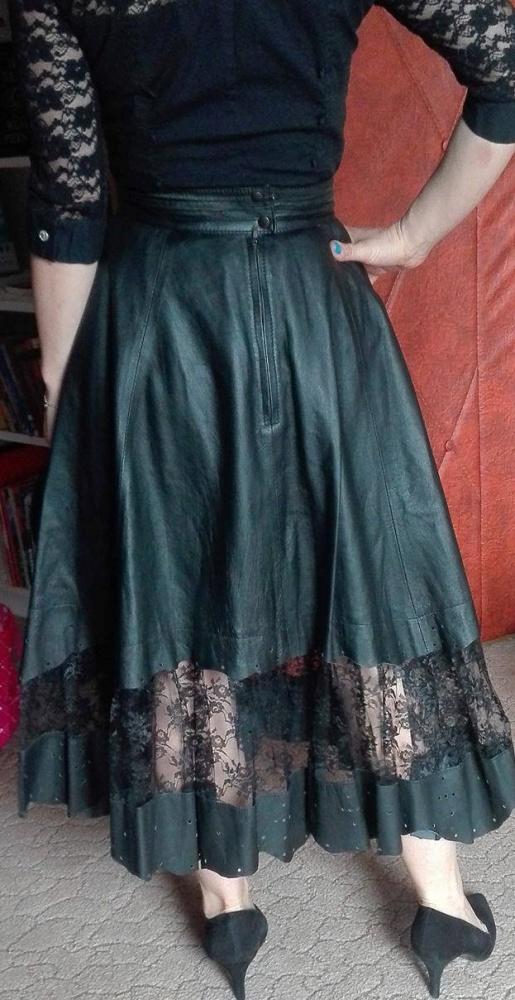 Spódnice Skórzana spódnica z koronką 36 cena do negocjacji