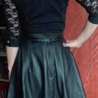 Skórzana spódnica z koronką 36 cena do negocjacji