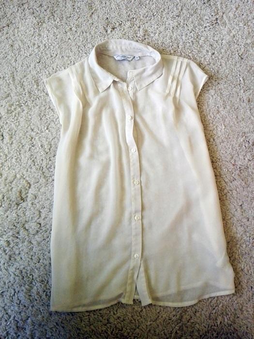 Koszule biała kremowa koszula mgiełka S M 36 38 new look