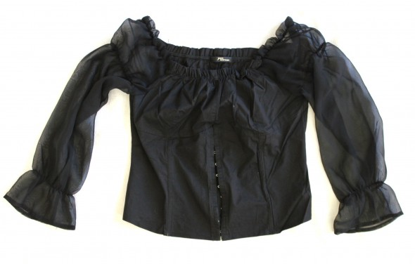 bluzka gorset Gothic czarna 42...