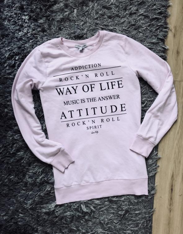 Różowa bluza tally weijl M...