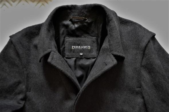 Męski klasyczny płaszcz 56 wełna 100 Perramus