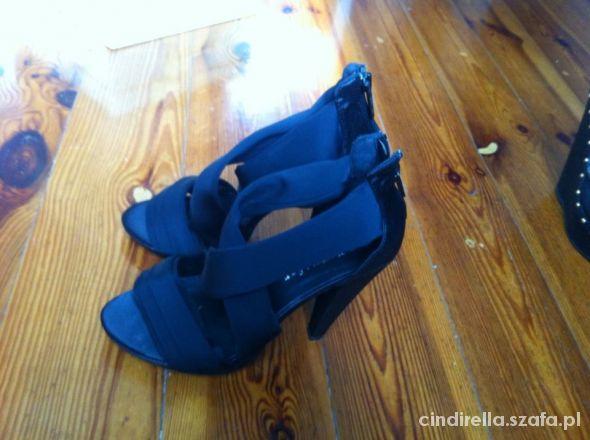 czarne eleganckie sexy sandaly ccc 35
