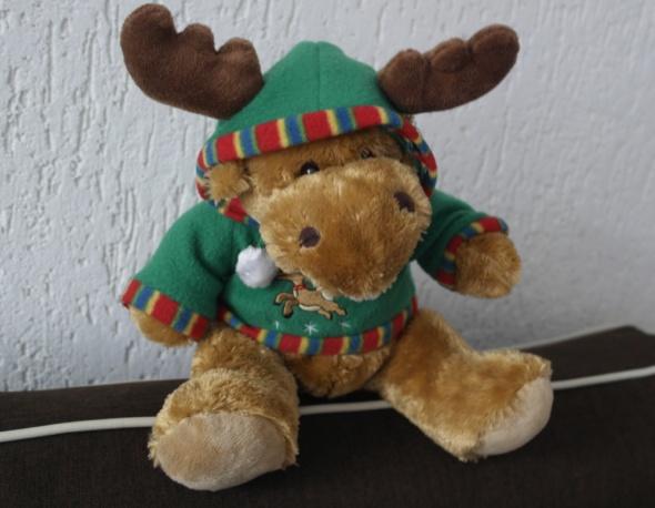 Zabawki Piękny Świąteczny renifer maskotka