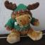 Piękny Świąteczny renifer maskotka