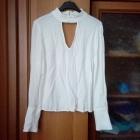Wyprzedaż biała bluzeczka z czokerem HandM 38 40