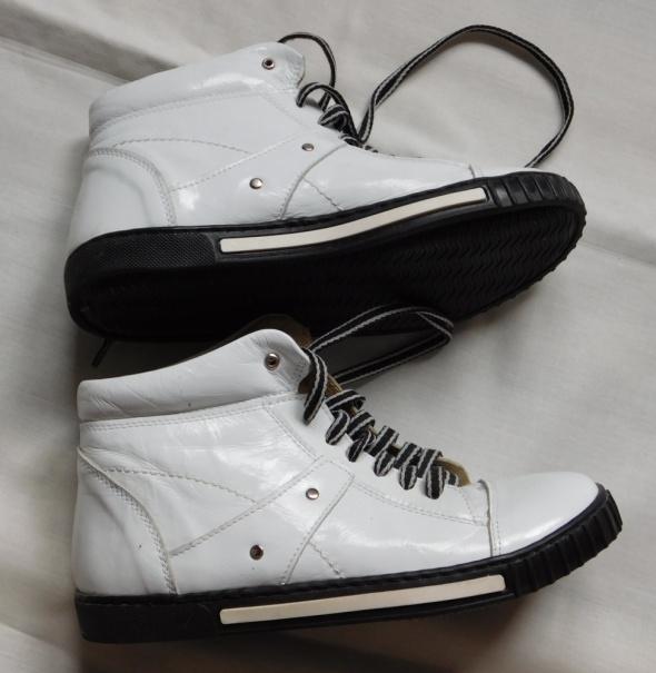 Białe buty skóra 37 Nowe