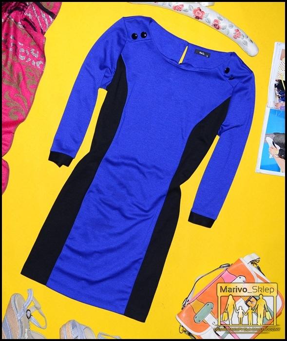 Sukienka trapez kobaltowa