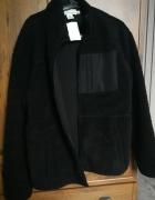 Bluza H&M czarna z futerkiem rozpinana...