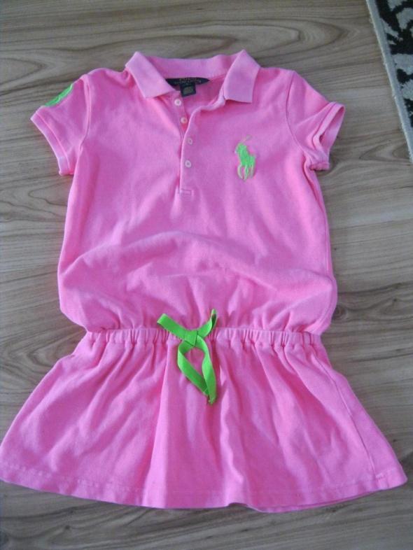 sukienka polo RALPH LAUREN 110 neonowa