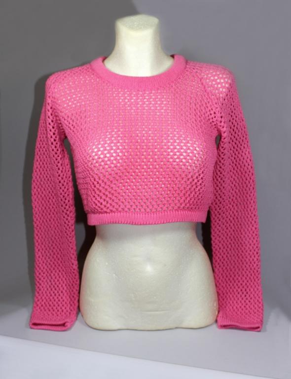 Śliczny ażurowy sweter croptop S M