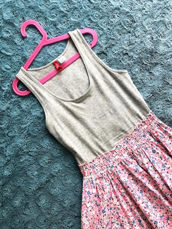 Kolorowa sukienka H&M kwiecista floral...