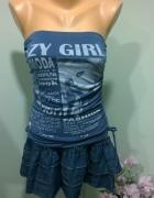 tunika sukienka mini XS S...