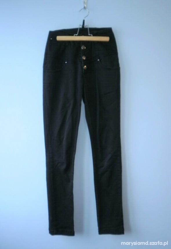 Spodnie Pull and bear czarne rurki z wysokim stanem S