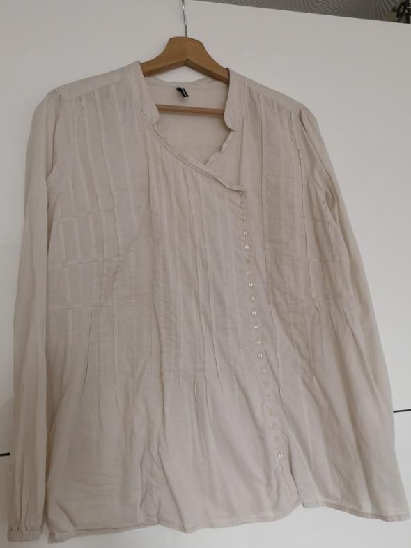 Bluzka koszula oversize beżowa rozm L 42 44
